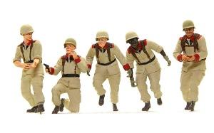 地球連邦軍・対MS特技兵セット フィギュアの細部の塗分け