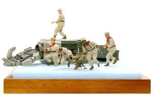 地球連邦軍・対MS特技兵セット フィギュアの塗装が完了