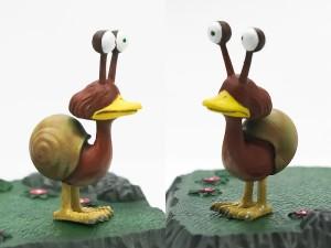 カタツムリ鳥の塗装