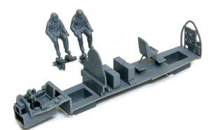 ボーファイターTF.Mk.10 コクピットの組み立て