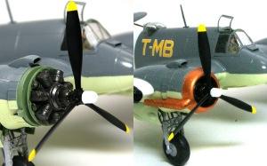 ボーファイターTF.Mk.10 エンジン、カウリング、プロペラ