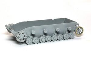4号架橋戦車D型 足まわりの組立て