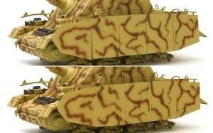 ブルムベア初期型 シュルツェンの重ね順を逆に塗装してしまった