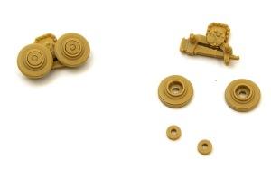 ブルムベア初期型 転輪の取り付け