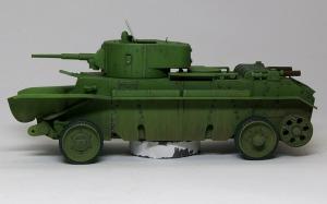 快速戦車BT-7 ウオッシングとドライブラシ