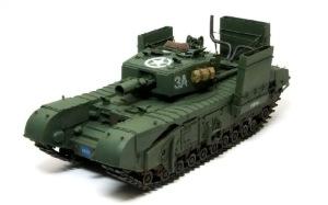 チャーチルMk.3工兵戦闘車 細部の塗分け