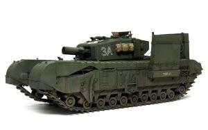 チャーチルMk.3工兵戦闘車 車体下部の汚し