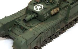 チャーチルMk.3工兵戦闘車 ピグメントで仕上げ
