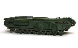 チャーチルMk.3工兵戦闘車 車体側面の汚し