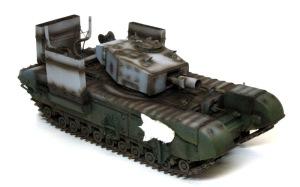チャーチルMk.3工兵戦闘車 サフ吹きと影吹き