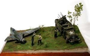 Crash Landing M16とメッサーシュミットを配置