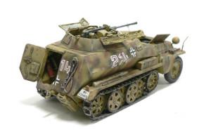Sd.kfz.250/9 ウオッシングとドライブラシ