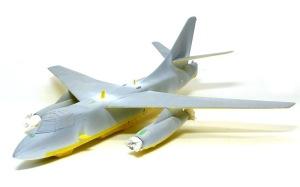 ダグラス・デストロイヤー 機体下面の塗装とマスキング
