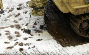 Cold Morgen (寒い朝) 泥と水たまり