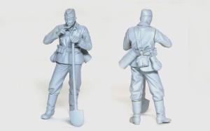 ドイツ・作業服姿の二等兵 1/35 バーリンデン
