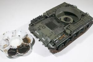 M42A1ダスター自走高射機関砲 スミ入れ