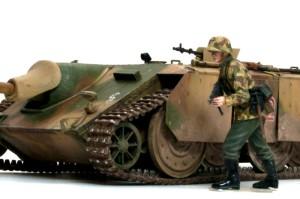 計画駆逐戦車E-10 歩兵と並べてみた
