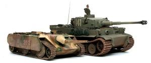 計画駆逐戦車E-10 ティーガー1と並べてみた