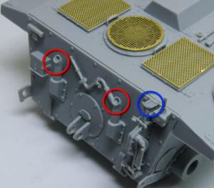 計画駆逐戦車E-10 排気管を薄く削る
