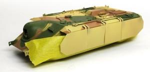 計画駆逐戦車E-10 足まわりをマスキング