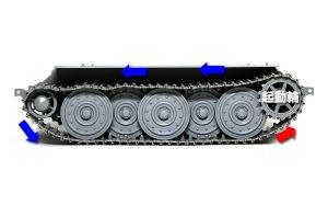 駆逐戦車E-25 履帯の弛み