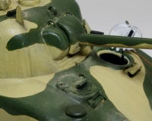 シャーマン2初期型 砲塔の汚し