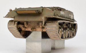 M4A3E8シャーマン イージー・エイト 車体後部の汚れ