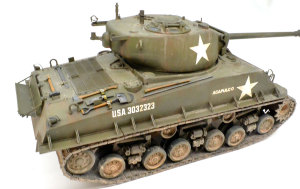 M4A3E8シャーマン イージー・エイト 砲塔と車体後部の汚れ