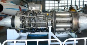 浜松エアパークのJ-47エンジン