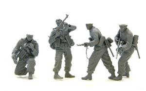 降下猟兵第3連隊 鉛の薄板で銃のスリングを作る