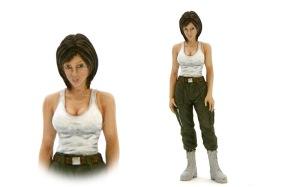 傭兵軍女性パイロット 服の塗装と顔の修正