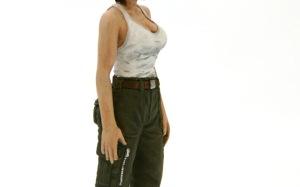 傭兵軍女性パイロット 手の塗装