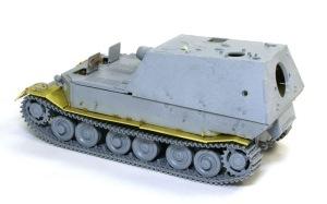 フェルディナンド最終生産車輌 戦闘室を車体に乗せる