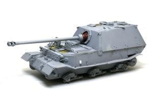フェルディナンド最終生産車輌 戦闘室の接着