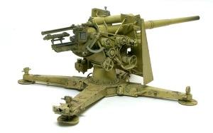 8.8cm対空砲Flak18 チッピングが完了(;^_^A