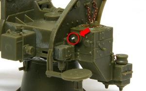 8.8cm対空砲Flak18 ハンドルの操作棒を追加