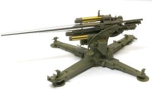 8.8cm対空砲Flak18 砲架が完成
