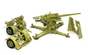 8.8cm対空砲Flak18 ハイライトと細部の塗分け