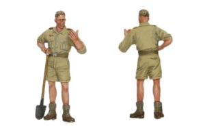 8.8cm対空砲Flak18砲兵セット 工兵の塗装