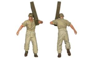 8.8cm対空砲Flak18砲兵セット 砲兵4人目の塗装