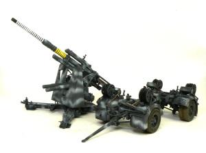 88mm砲Flak36 ウエザリングとデカール貼り