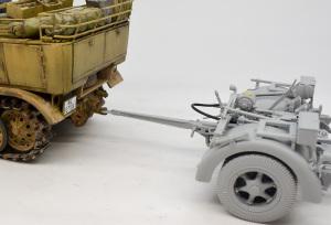 8.8cm対空砲Flak37 8tハーフトラックとの接続