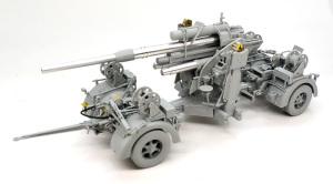 8.8cm対空砲Flak37 砲を架台に乗せてみる