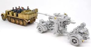 8.8cm対空砲Flak37 8tハーフトラックSd.kfz.7 に引かせてみた
