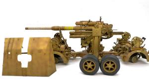 8.8cm対空砲Flak37 ウオッシング
