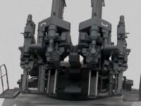 砲架のレールの塗り分け