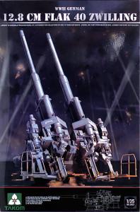 ドイツ・12.8cmFlak40 2連装対空砲 1/35 タコム