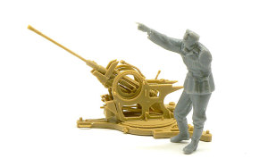 2cmFlak38砲兵 隊長の組立て