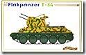 T-34対空戦車Flak38 1/35 サイバーホビー