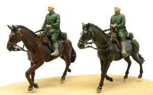 ドイツ・第1騎兵師団 馬2頭目の塗装とフィギュアの下塗り
